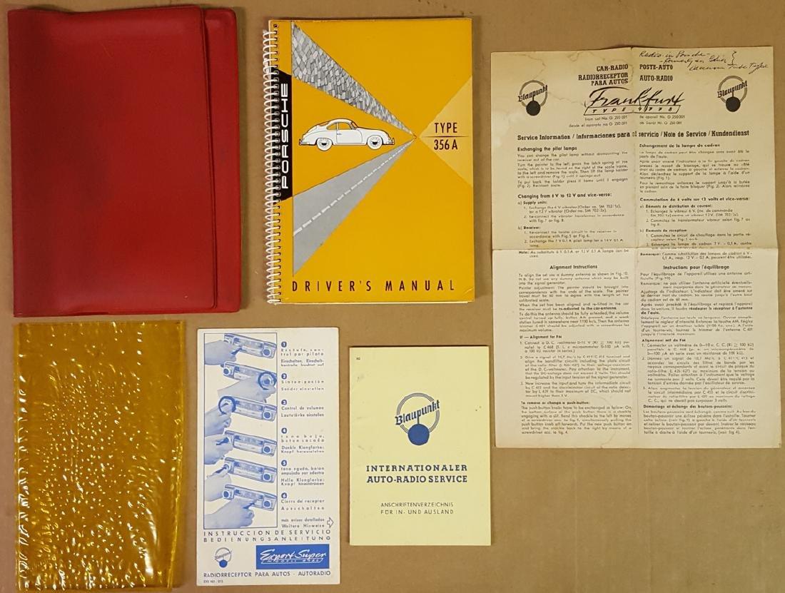 Porsche 356 A manual, pouch, radio info