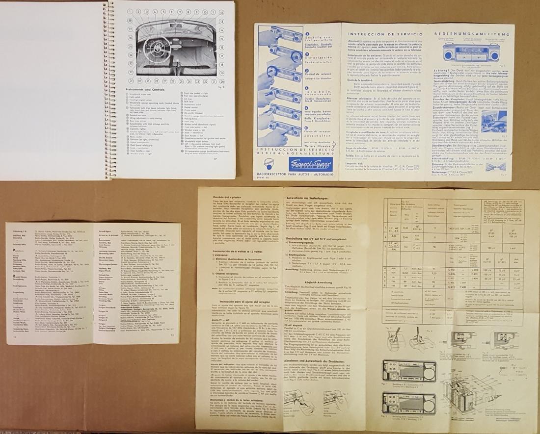 Porsche 356 A manual, pouch, radio info - 4