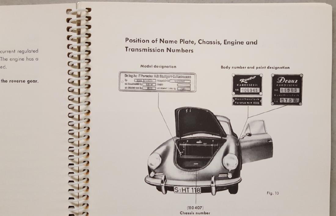 Porsche 356 B manual, Super 90 supp - 3