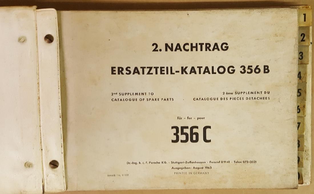 Porsche 356 C parts manual - 2