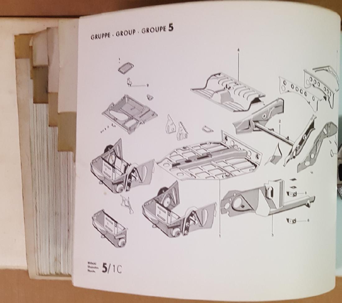 Porsche 356 C parts manual - 3