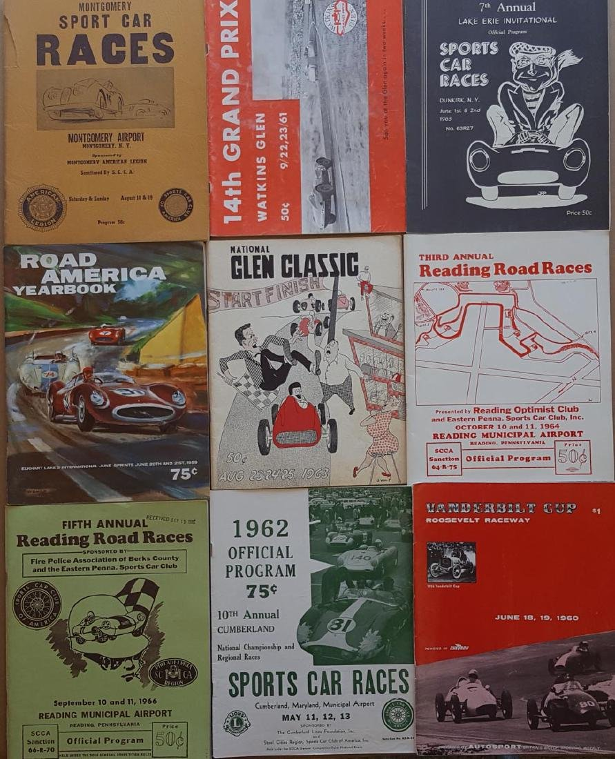 Nine East Coast race programs, 1956-66