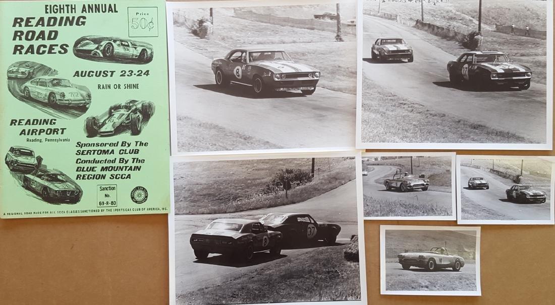Race programs, photos, dash plaque
