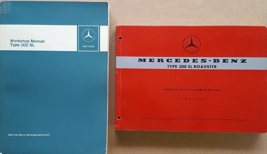 Merc Benz 300SL Parts & Workshop books