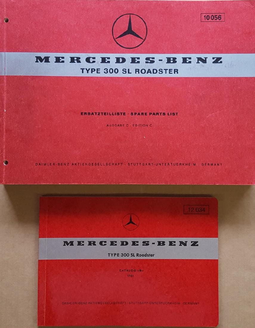 Merc Benz 300 SL Parts books - disc brake