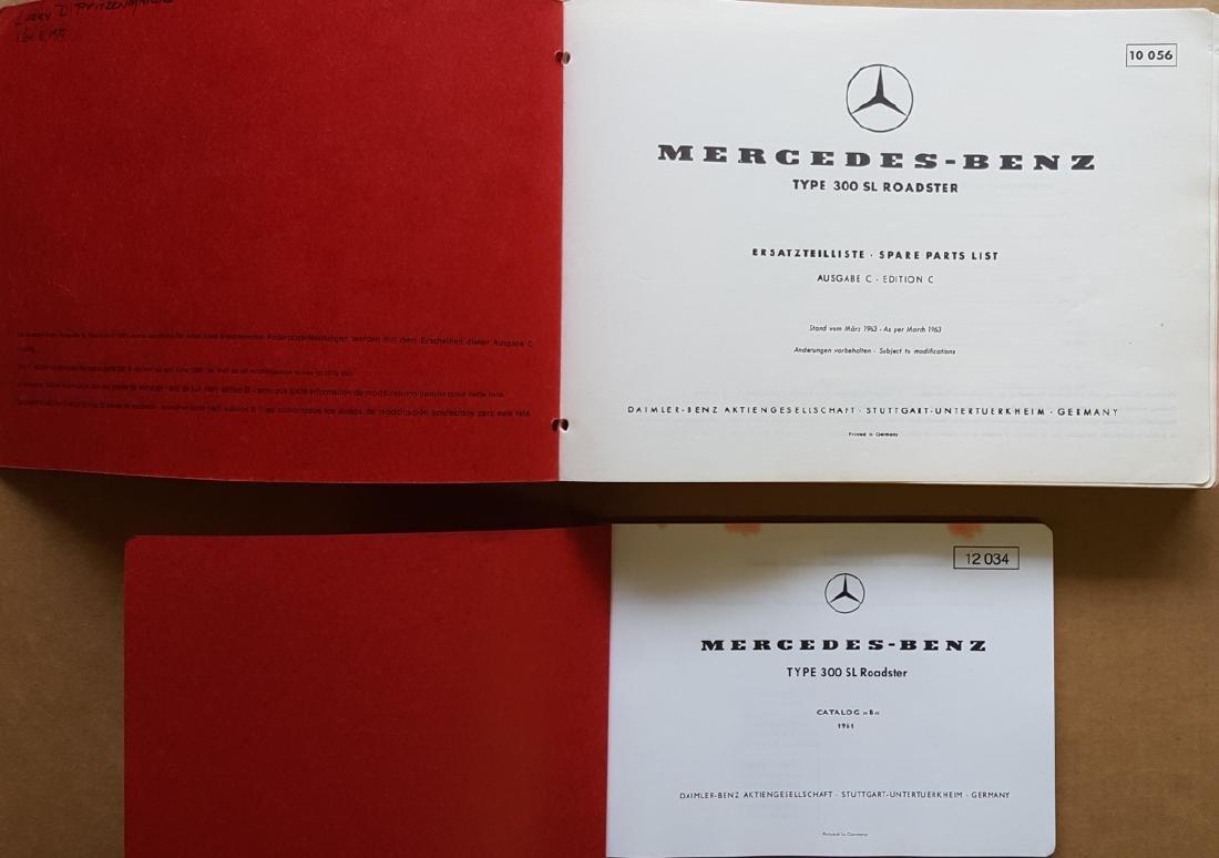 Merc Benz 300 SL Parts books - disc brake - 2
