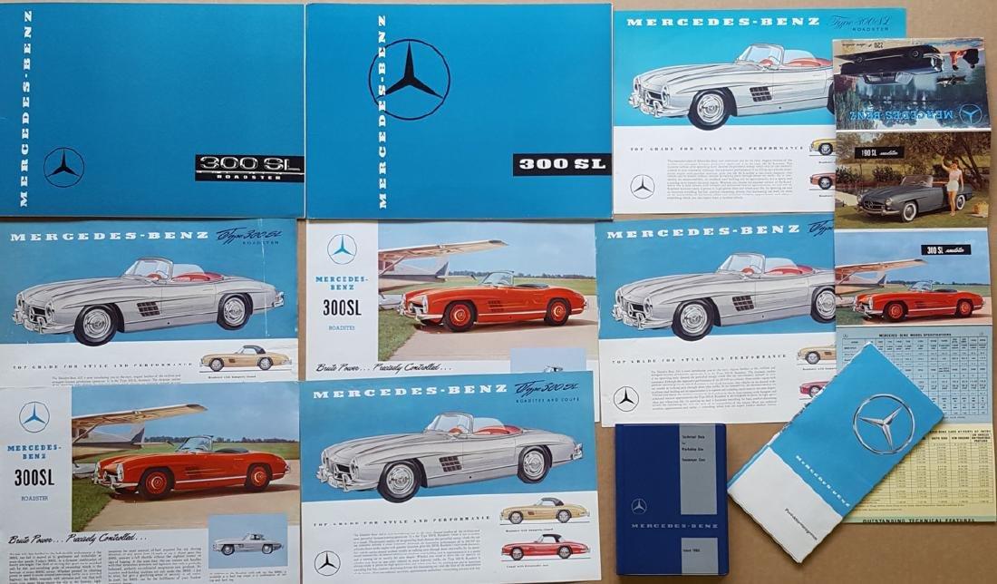 Merc Benz 300 SL brochures, etc