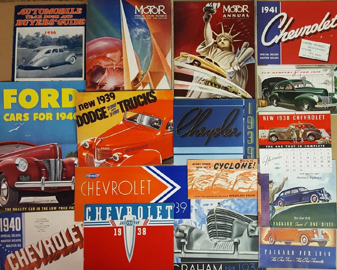 1936-1942 US broc and magazines
