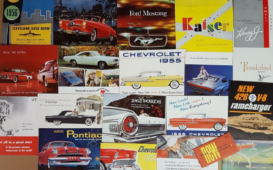 1950's - 1960's US car brochures