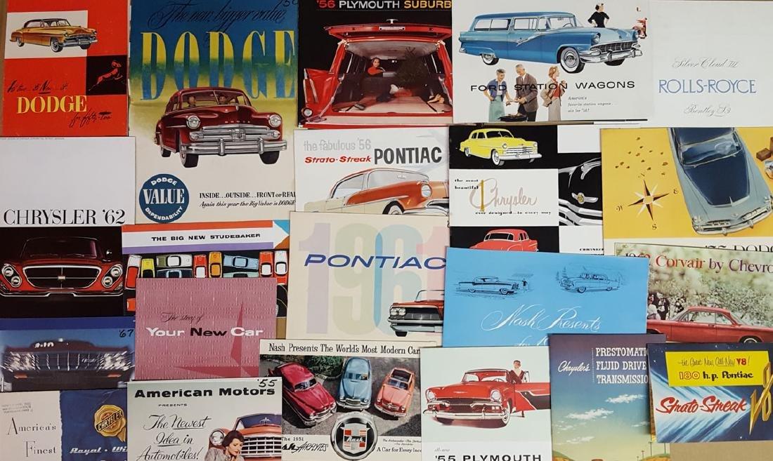 1950's - 1960's US car brochures - 2