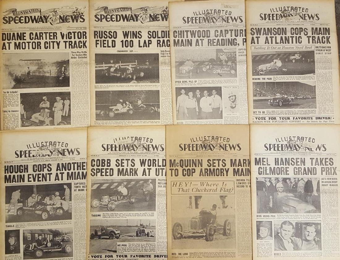 Lot of  racing newspapers - 1940's-1970's