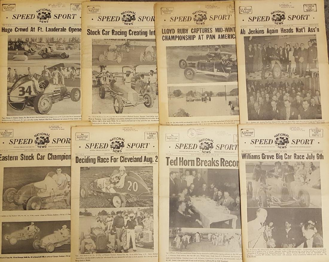Lot of  racing newspapers - 1940's-1970's - 2