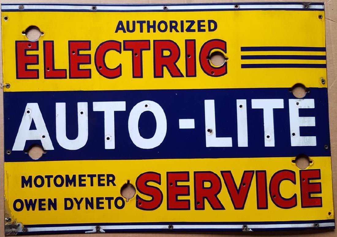 Auto-Lite Service neon face sign