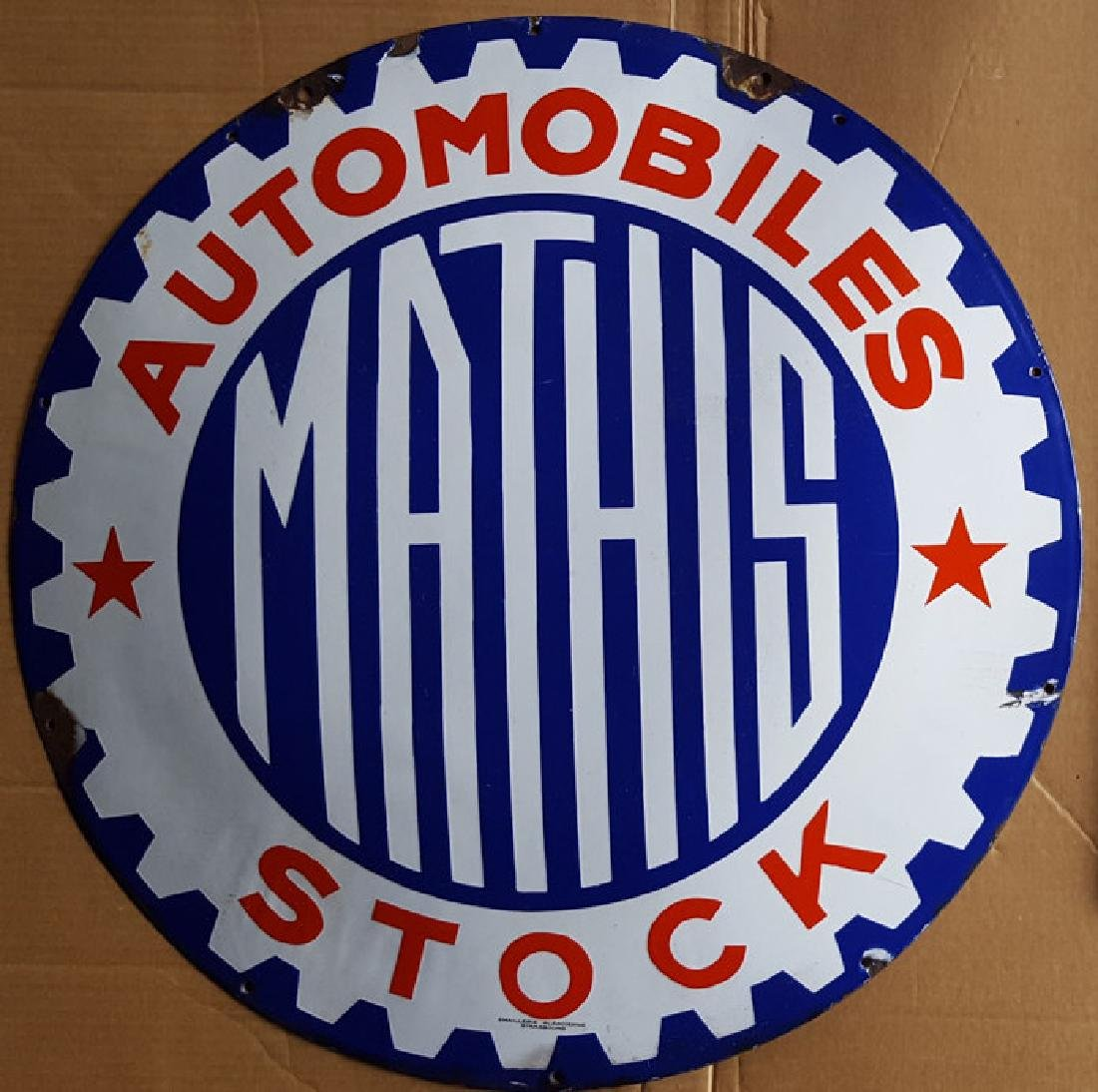 Mathis auto dealer domed sign