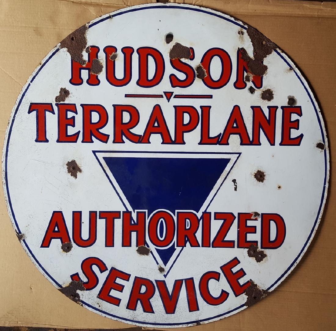 Hudson Terraplane Auth Service sign - 2