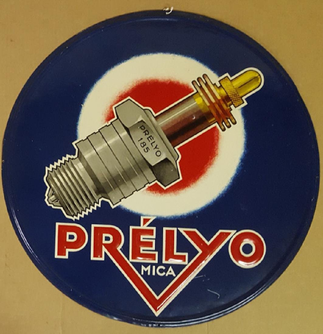 Preylo Mica spark plug sign