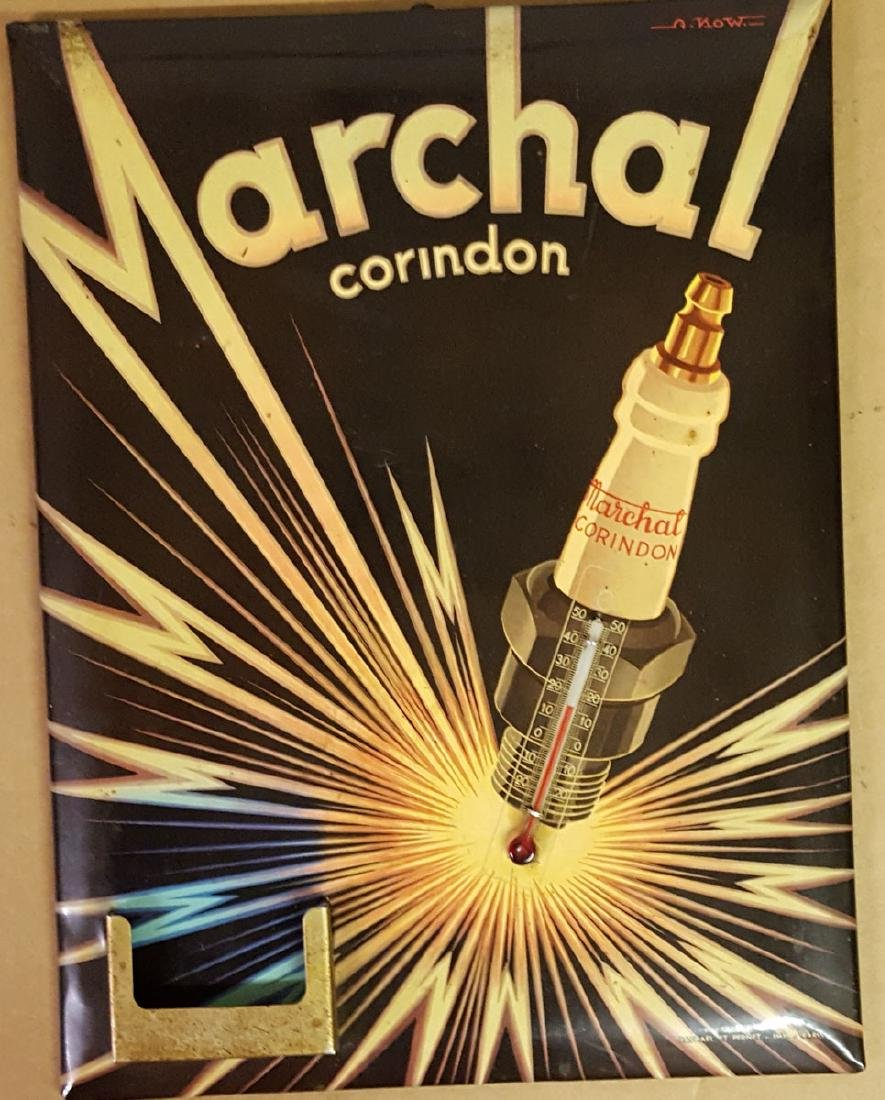 Marchal spark plug litho celluoid sign
