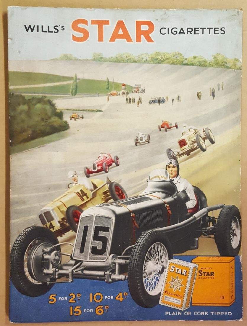 Star cigarette poster,  ERA at Brooklands