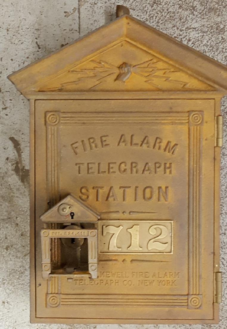 Cast fire alarm telegraph station box