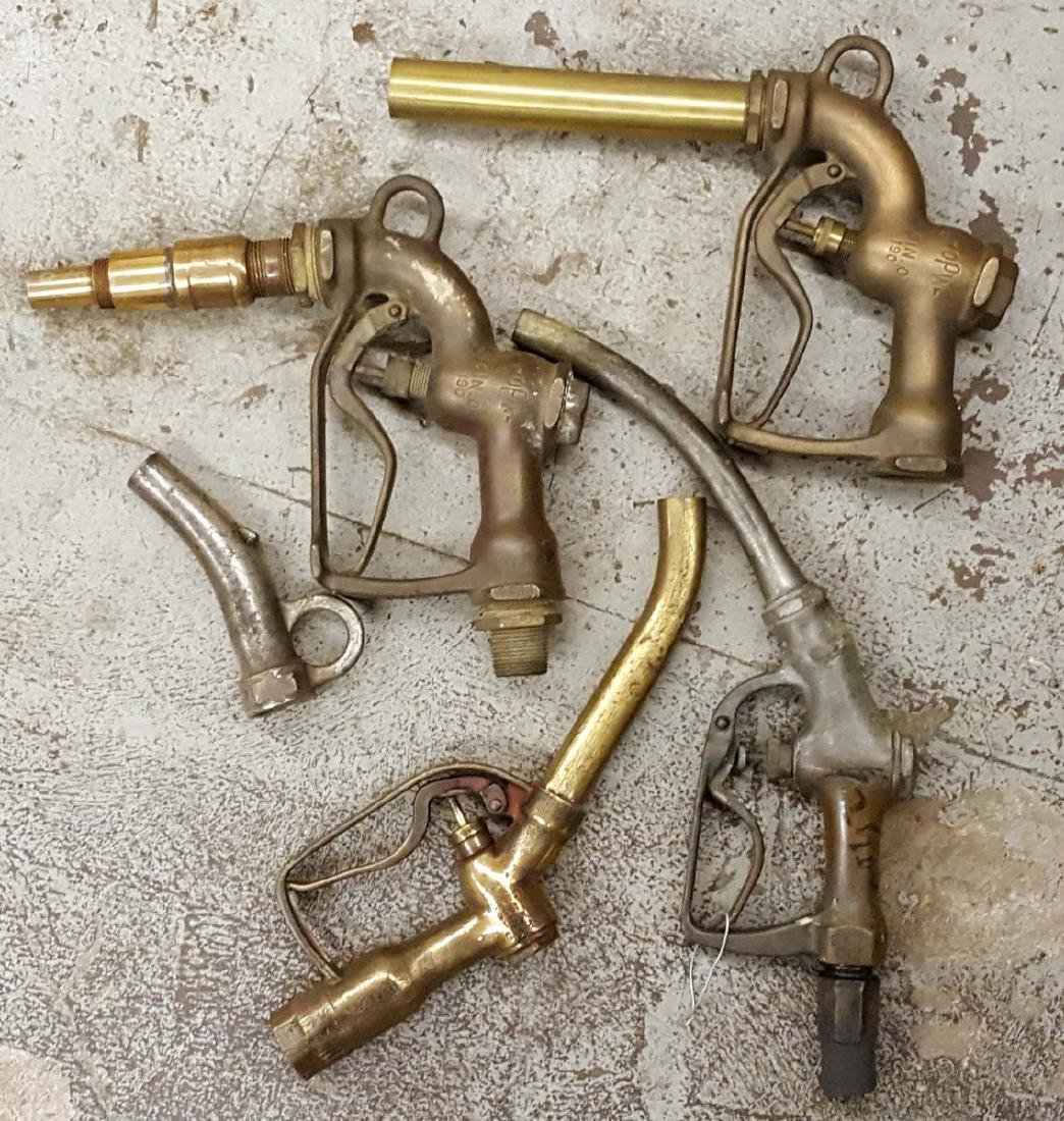 Lot of brass gas pump nozzles