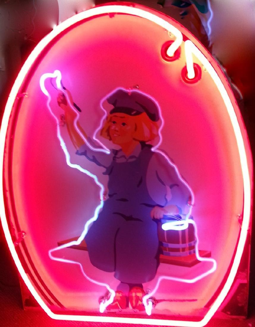 Dutch Boy paint neon sign