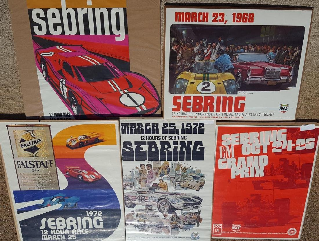 Five Sebring Race posters