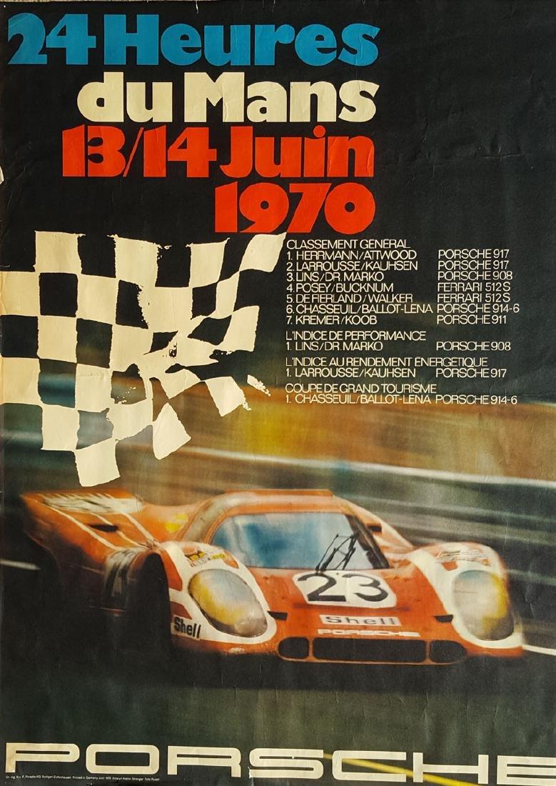 Three 1970 original Porsche posters