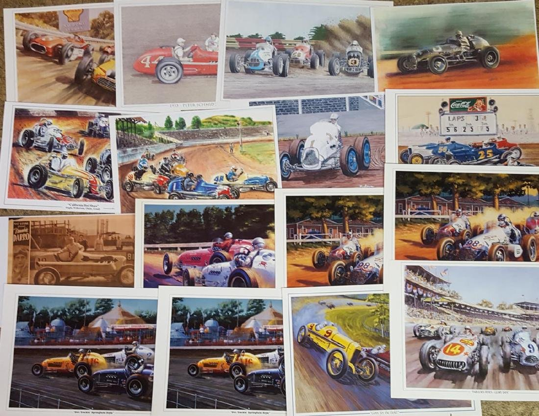 Mixed lot of racing posters and prints - 2