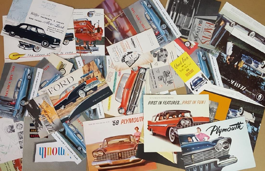 Lot of late 1940's - 1950's brochures - 4