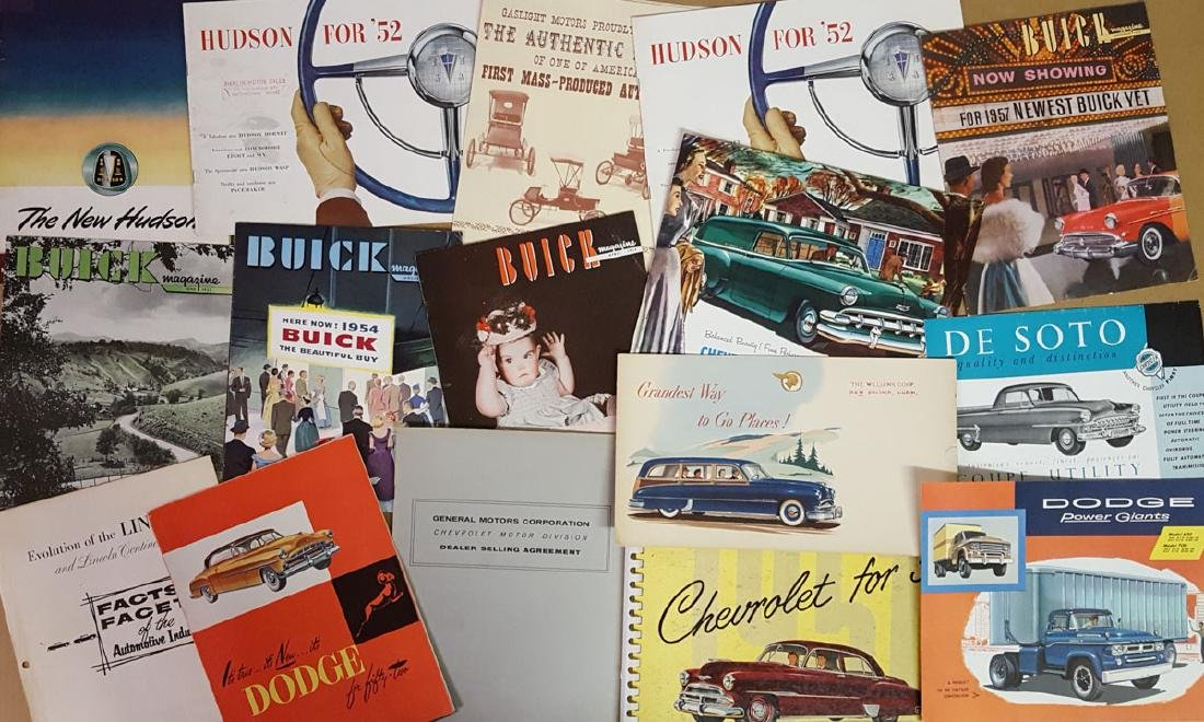 Lot of late 1940's - 1950's brochures