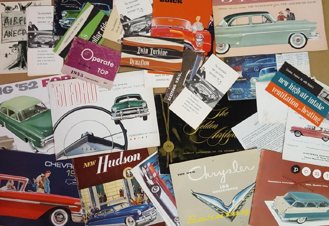 Lot of late 1940's - 1950's brochures - 2