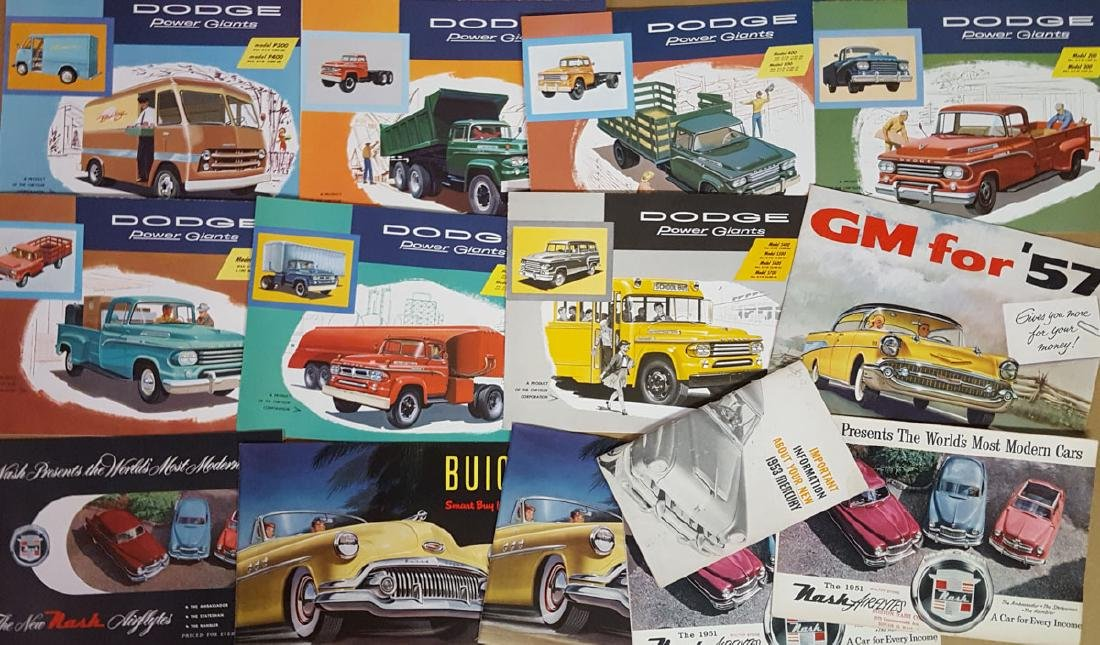 Lot of late 1940's - 1950's brochures - 3