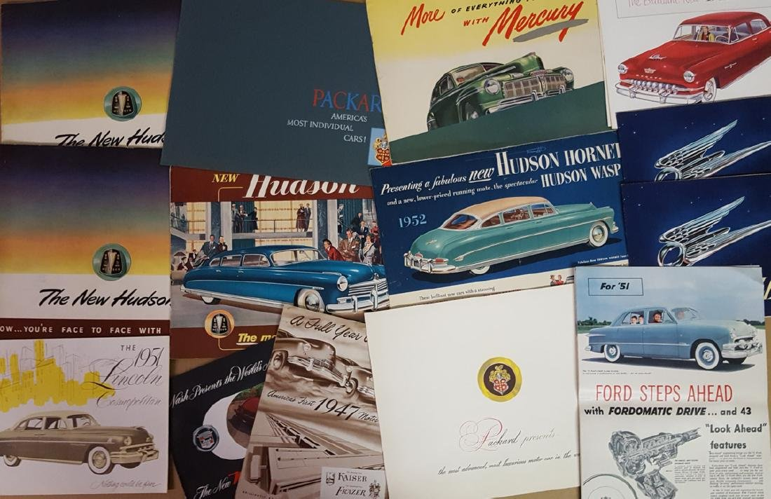 Lot of late 1940's - 1950's brochures - 5