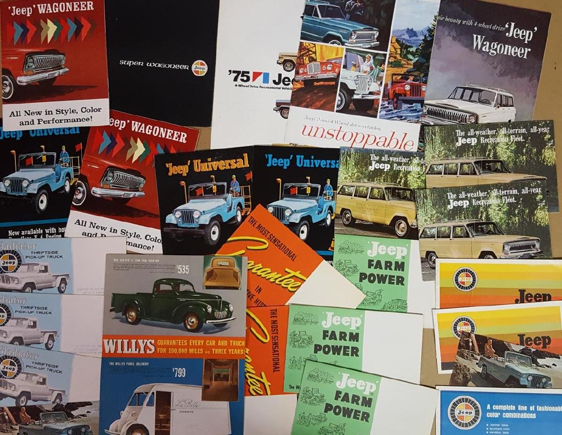 Lot of Willys, Jeep, Stude, etc truck broc - 3