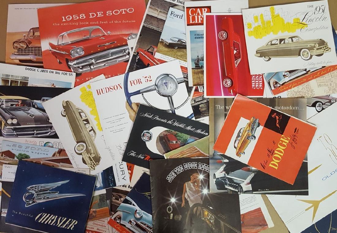 Lot of 1950's-1960's brochures