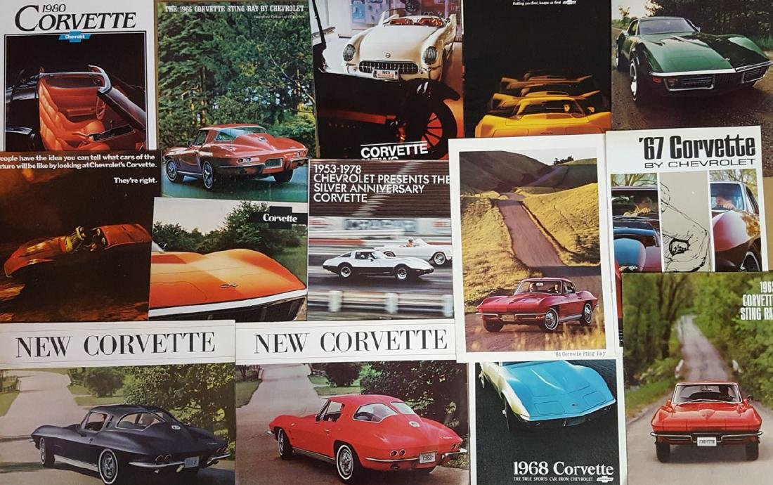 1963 and later Corvette brochures