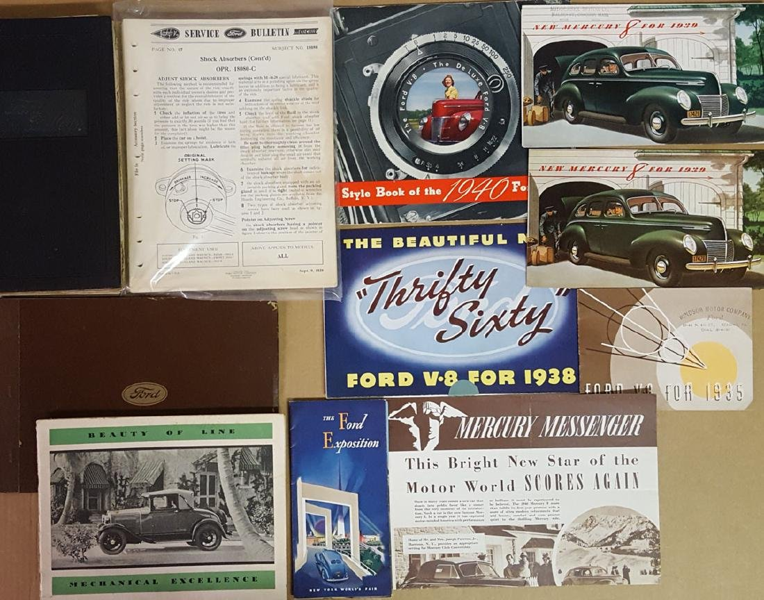 Ford Model A and early V 8 items