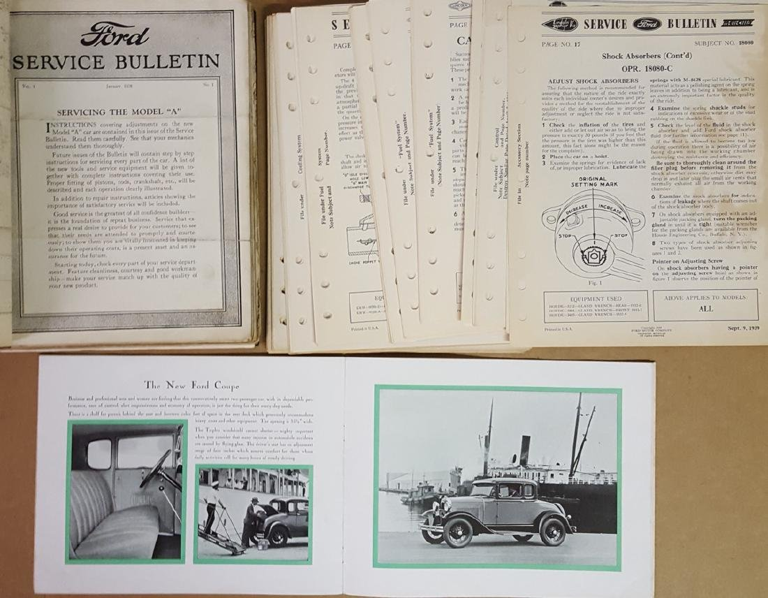 Ford Model A and early V 8 items - 2