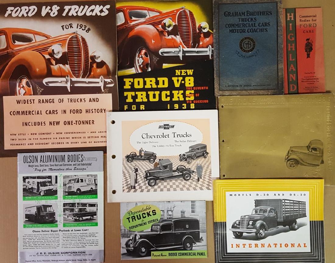 Teens - 1930's truck brochures and albums