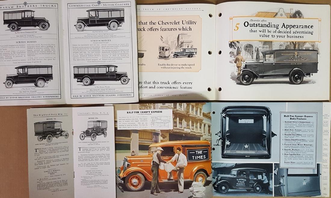 Teens - 1930's truck brochures and albums - 2