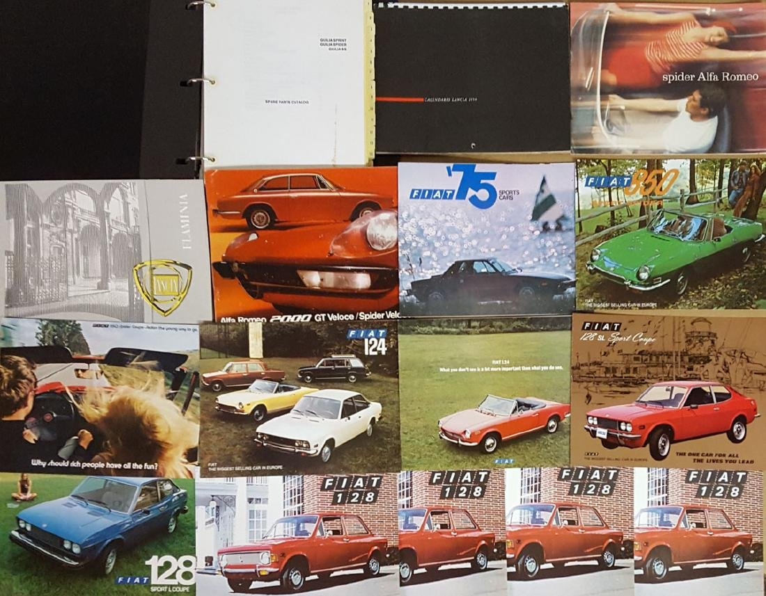 Alfa, Fiat, Lancia items