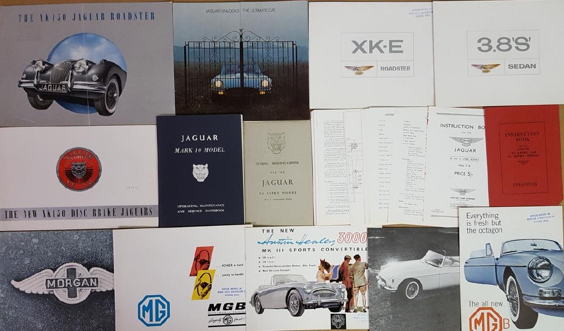 British sports car & other brochures