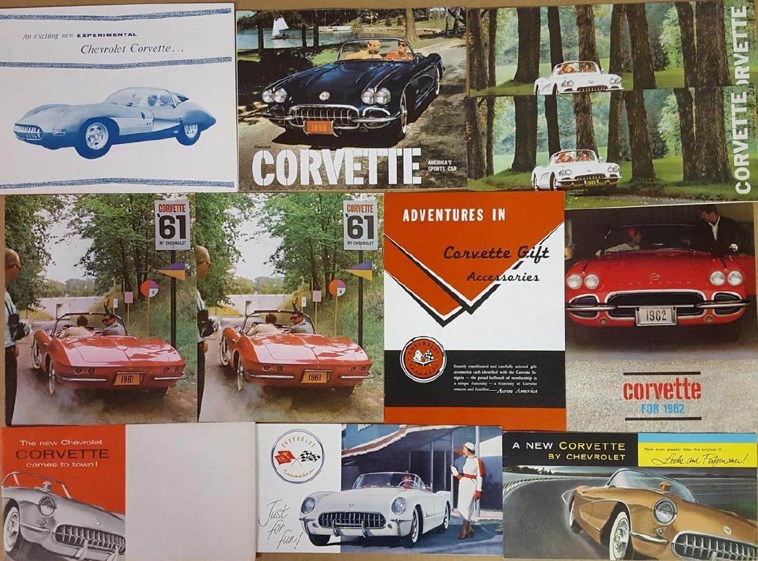 1953-1962 Corvette brochures