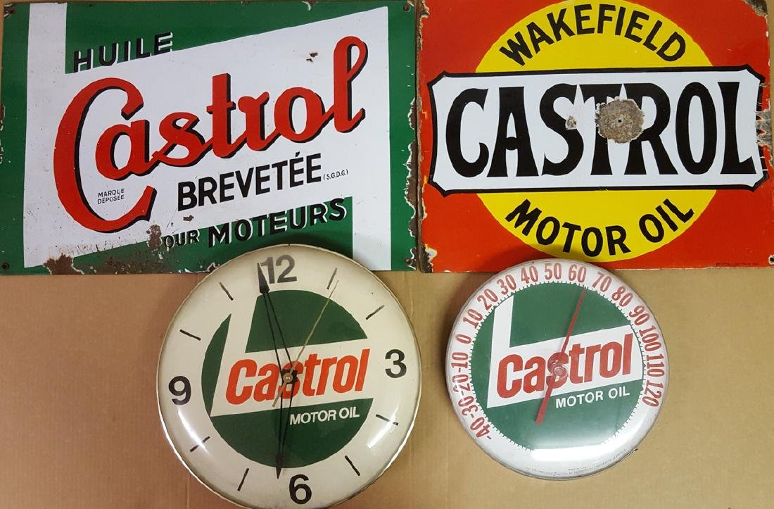 Castrol garage items