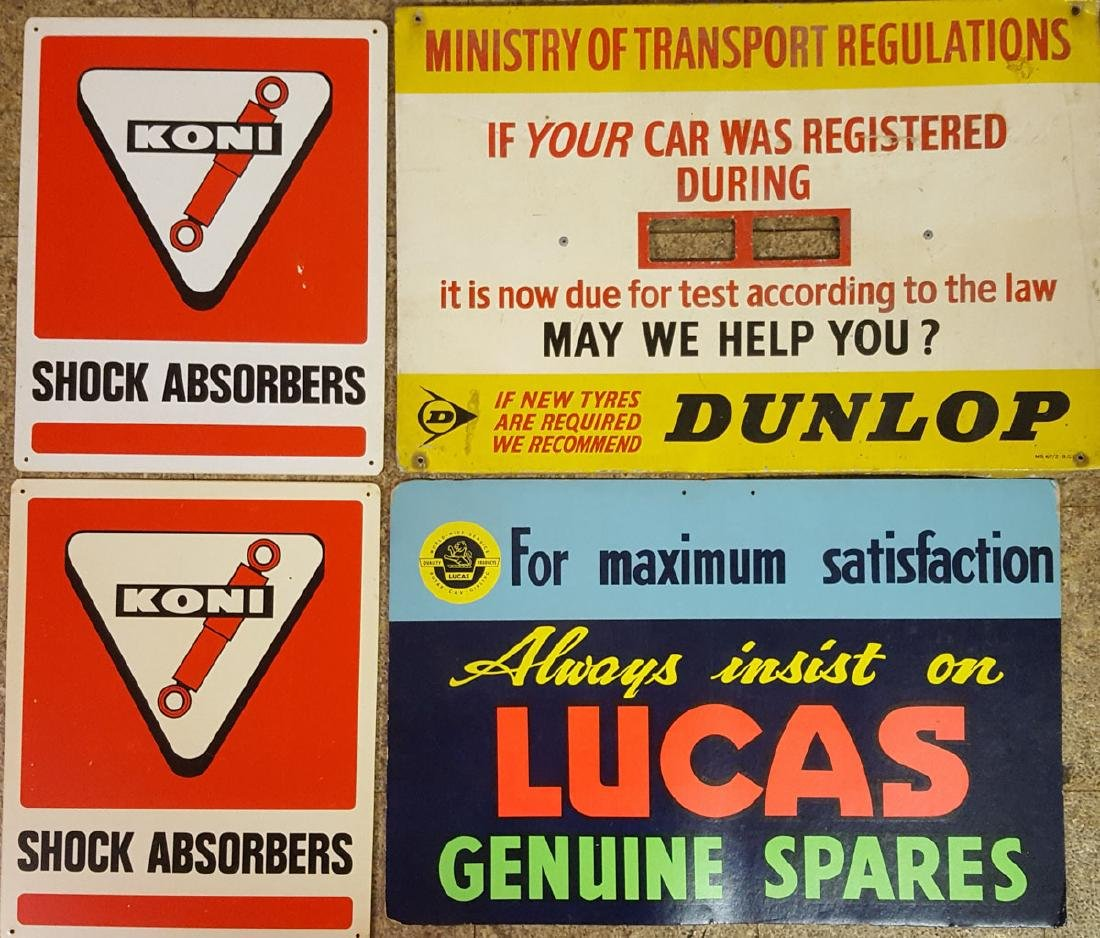 Four car related signs