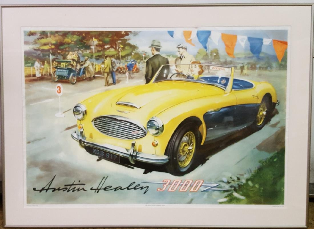 Original Austin Healey framed poster