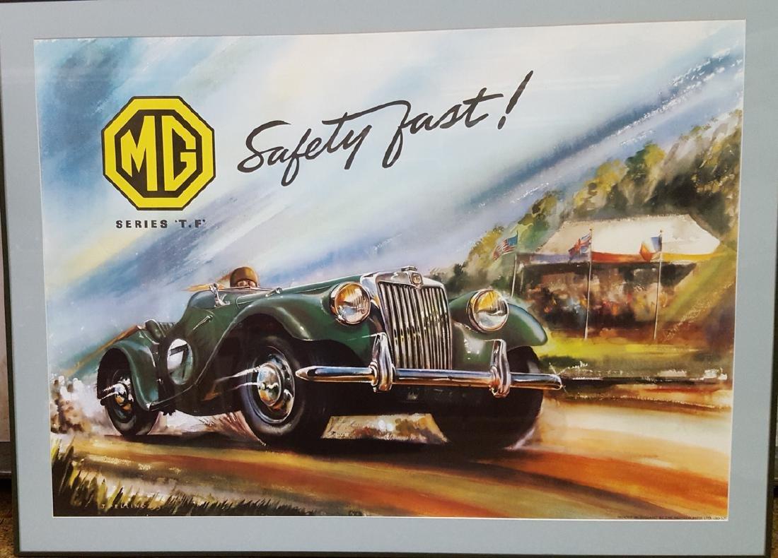 Original MG TF framed poster