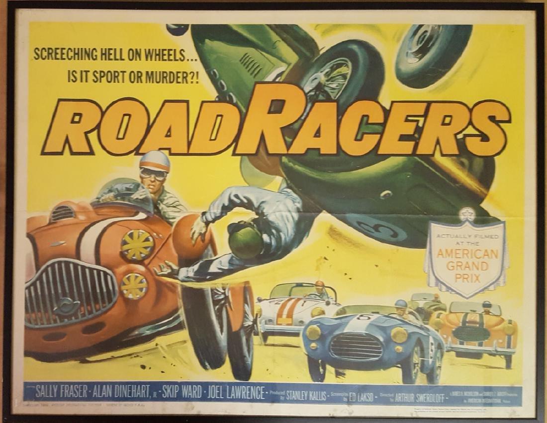 1959 Road Racers framed movie poster