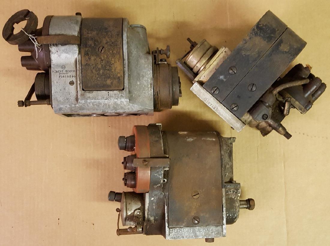 Three six cylinder magnetos