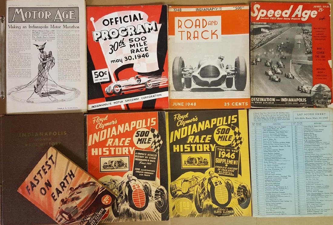 Indy 500 and earlly racing items